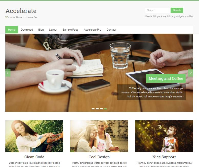 free responsive wordpress themes accelerate