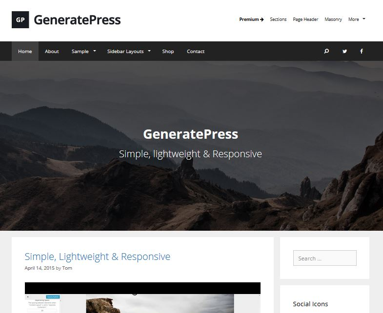 free responsive wordpress themes generatepress