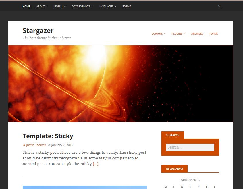 free responsive wordpress themes stargazer