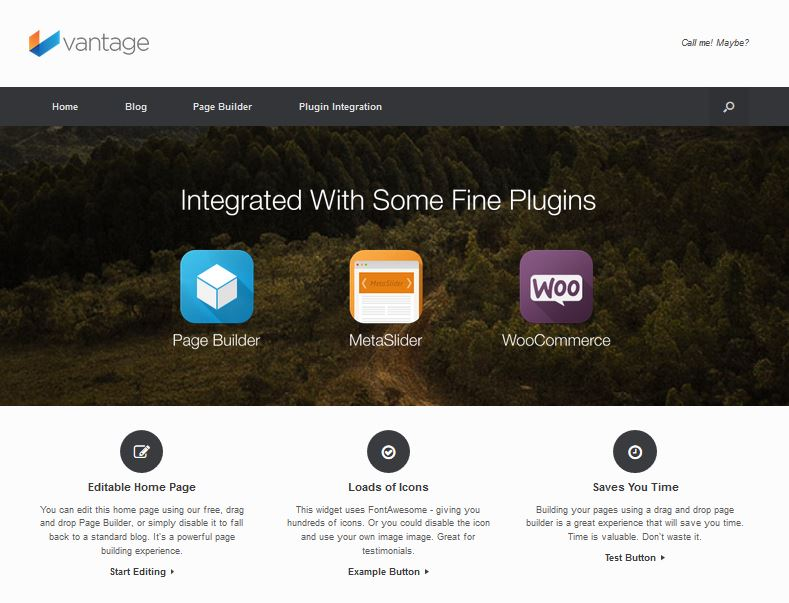 free responsive wordpress themes vantage
