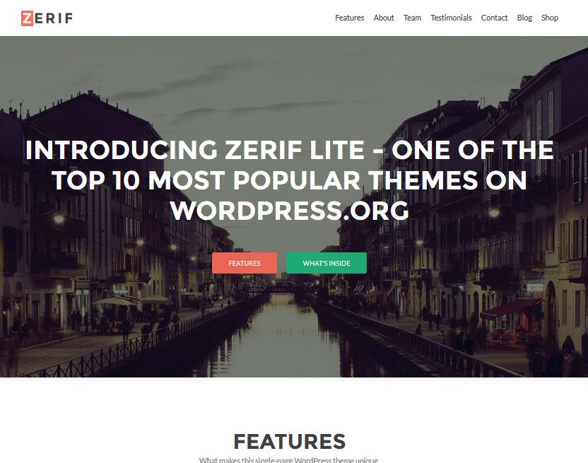 free responsive wordpress themes zerif