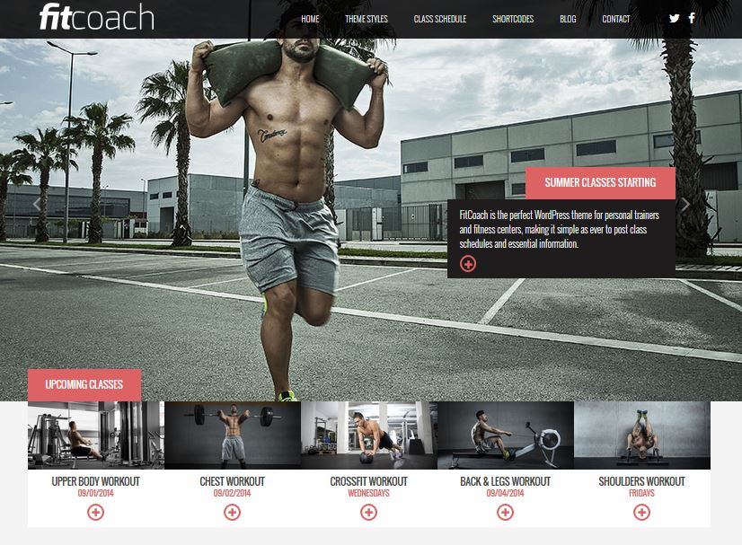 free resposive wordpress themes fitcoach