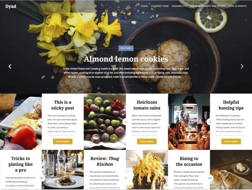 10 best free responsive restaurant wordpress theme 2016 for Cuisine site