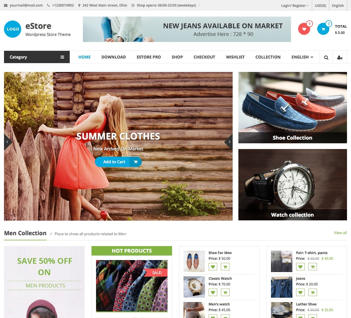 30 best free woocommerce responsive wordpress themes 2016 for Best online store website