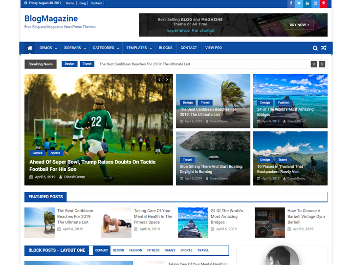 blogmagazine free responsive magazine wordpress theme