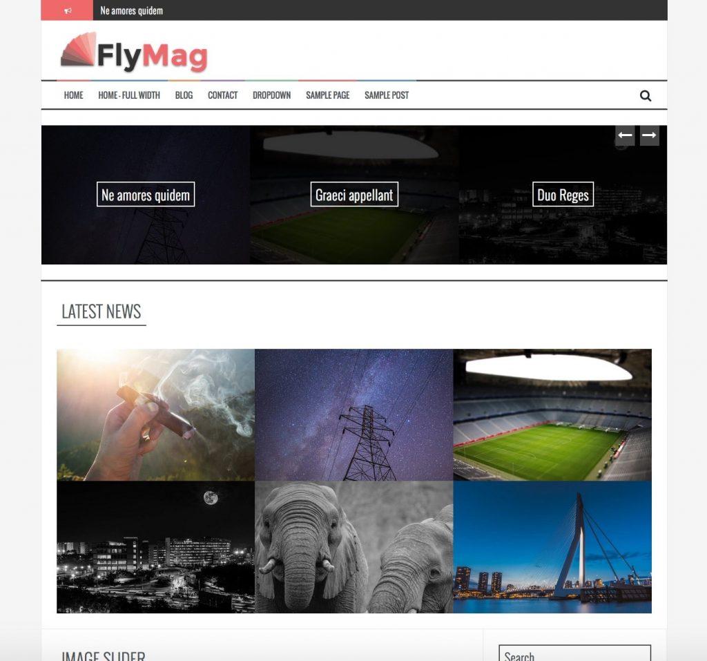 flymag - free responsive magazine themes