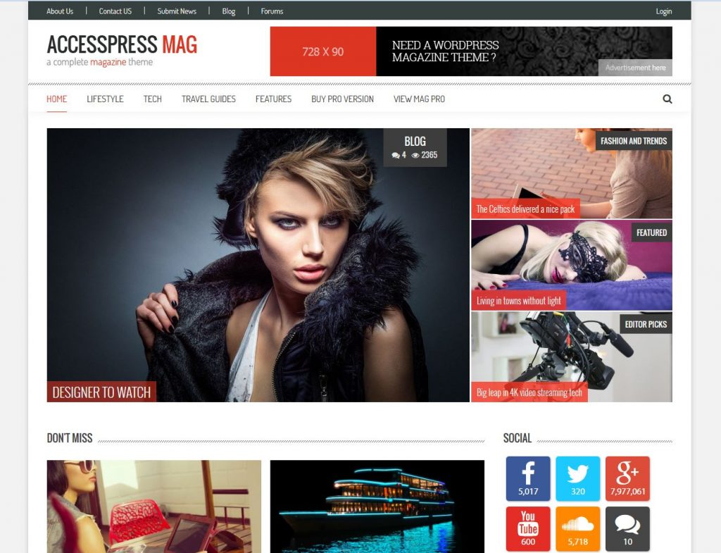 free magazine wordpress theme accesspress-mag