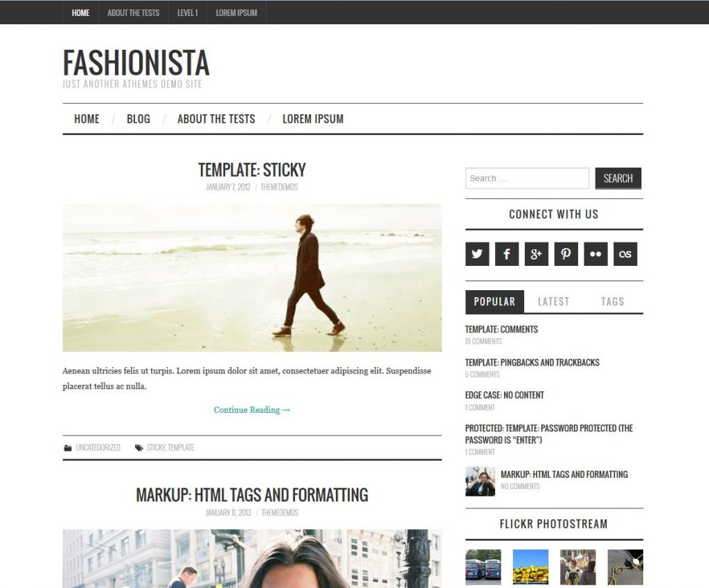 free magazine wordpress theme fashionista