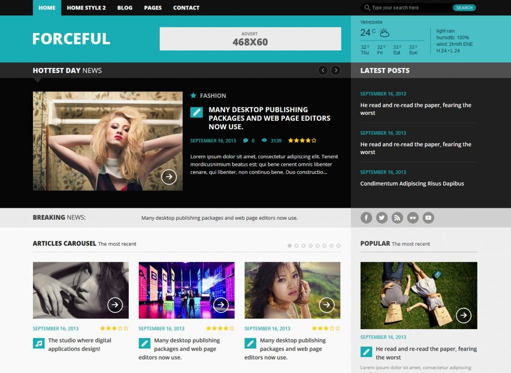 free magazine wordpress theme forceful lite