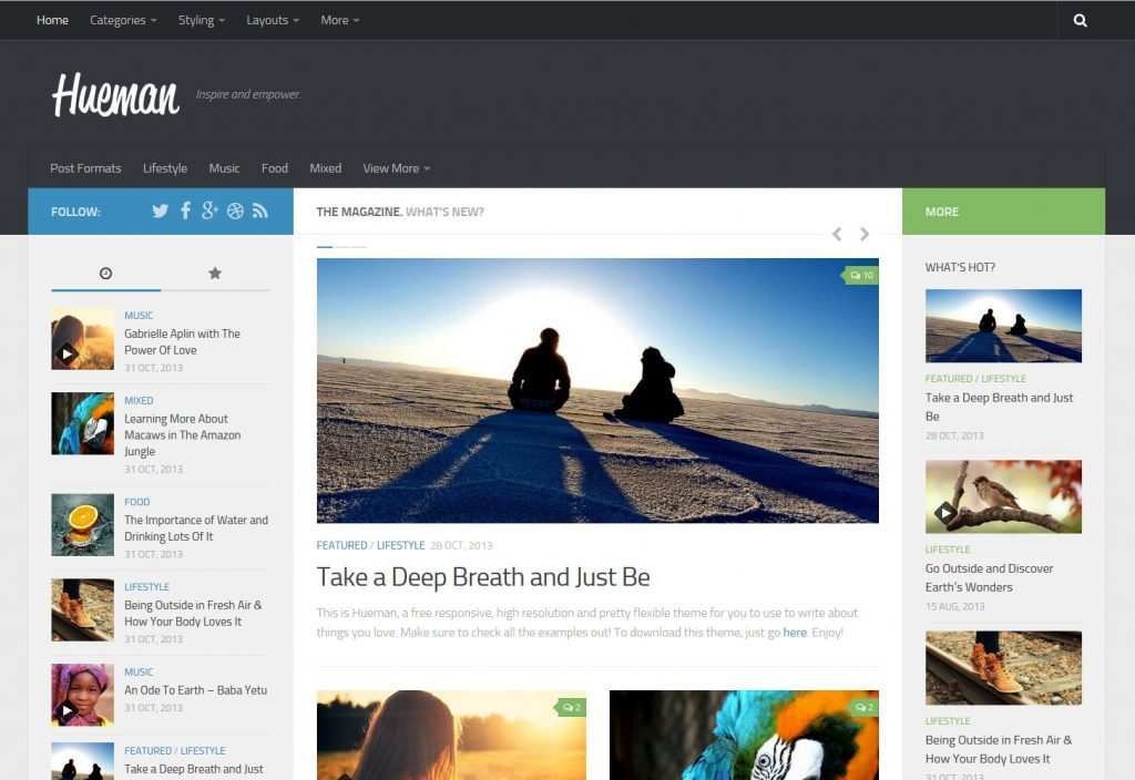 free magazine wordpress theme hueman