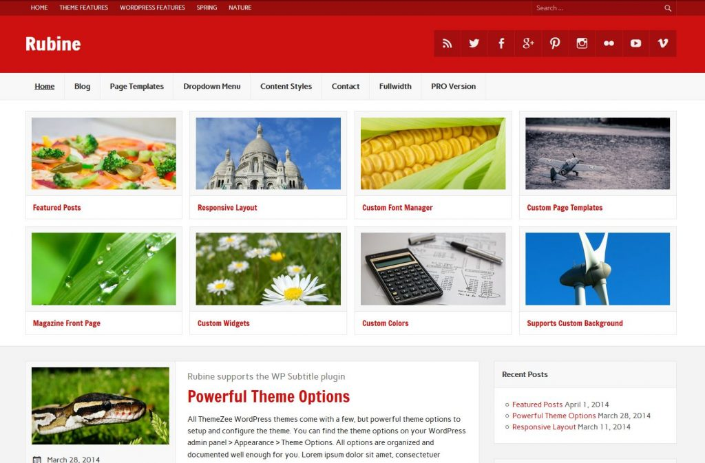 free magazine wordpress theme rubine