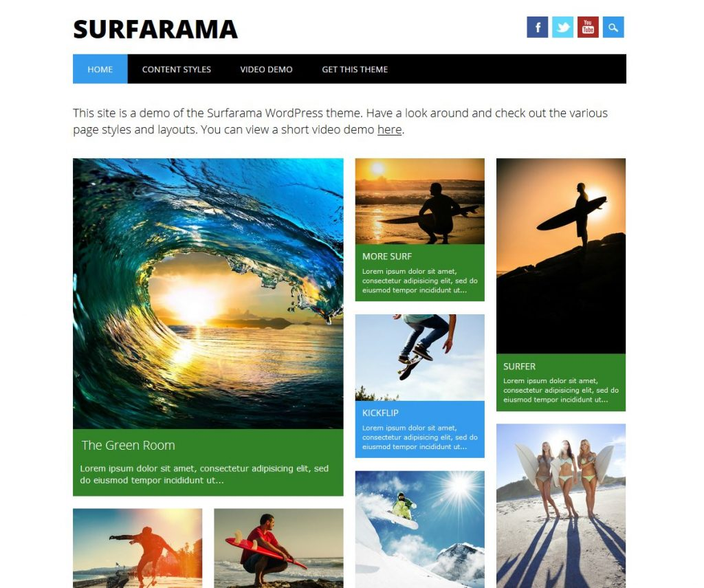 free magazine wordpress theme surfarama