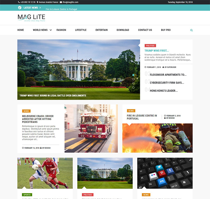 mag lite free wordpress magazine theme
