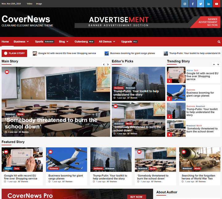 CoverNews Free Responsive WordPress Theme