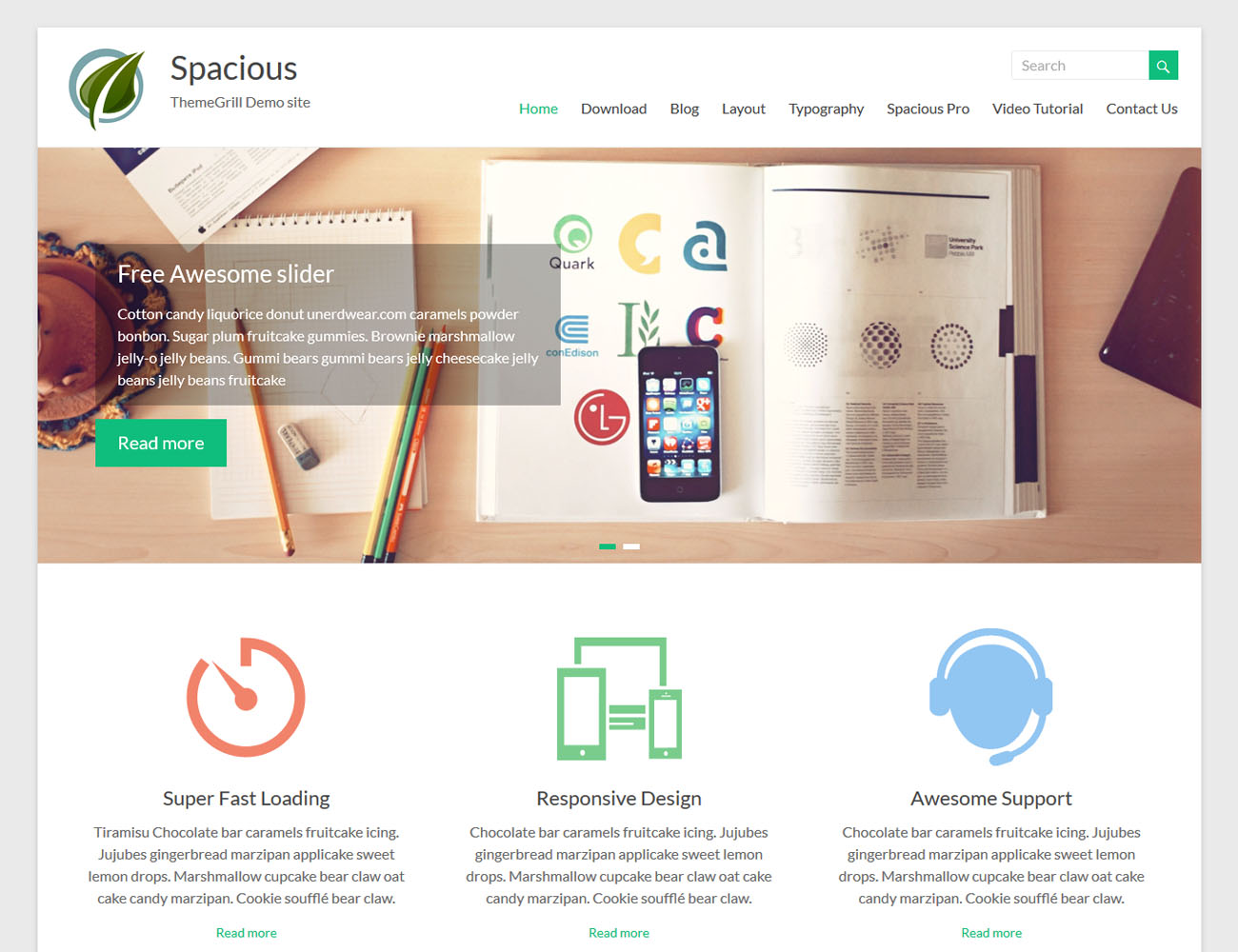 free responsive wordpress themes spacious