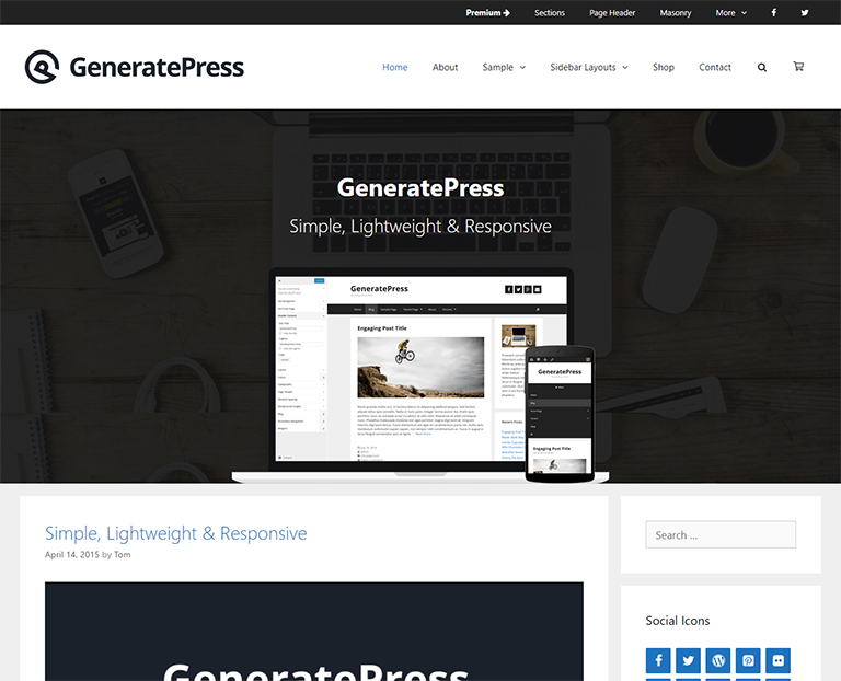 WordPress-Free-WP-BLog-themes-GeneratePress