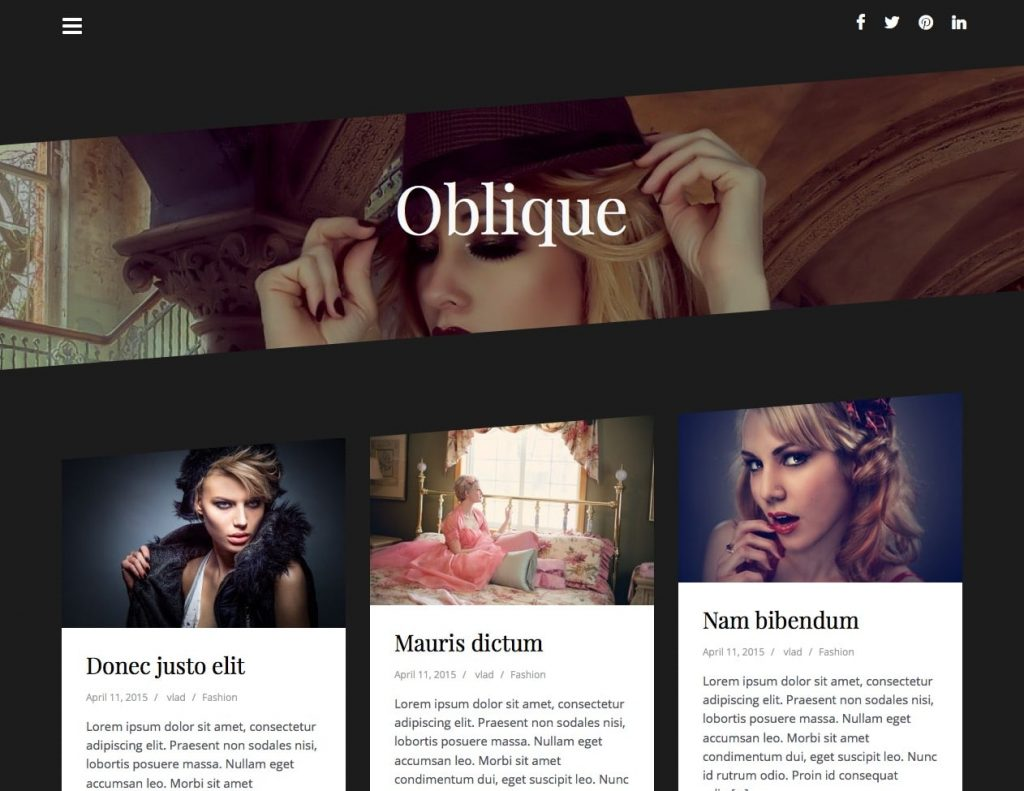 free wordpress themes for personal bloggers oblique