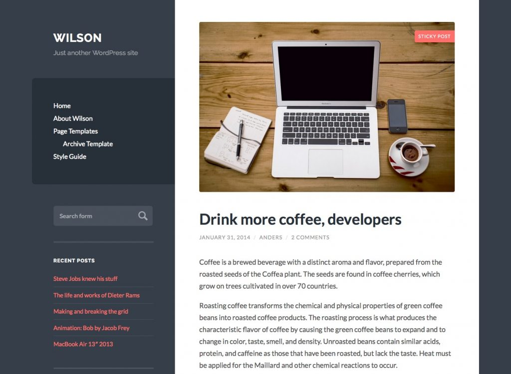 free wordpress themes for personal bloggers wilson