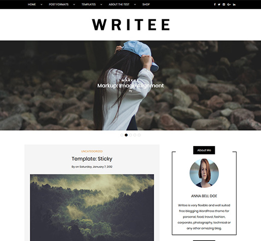 writee-free-wordpress-blog-theme