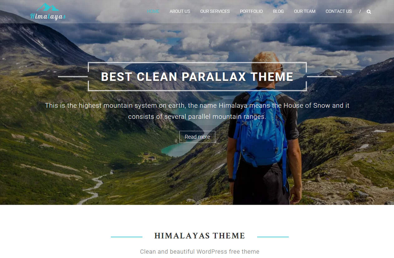 Himalayan Parallax WordPress Themes