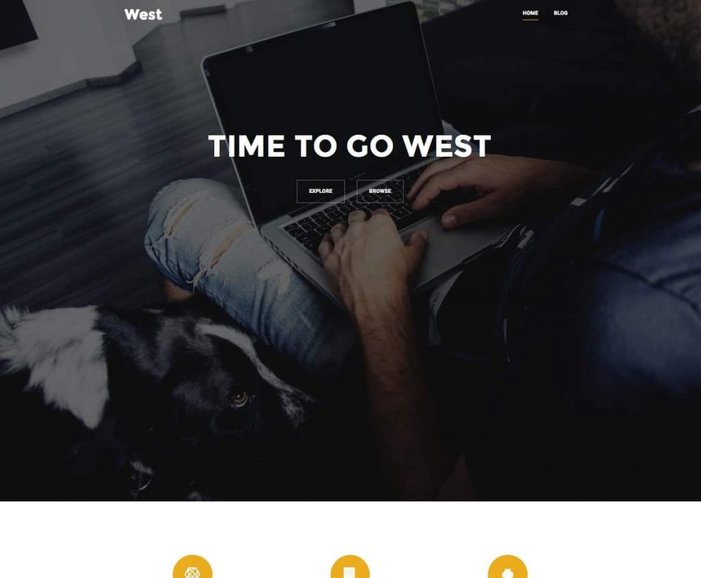 west - free one page wordpress themes collection