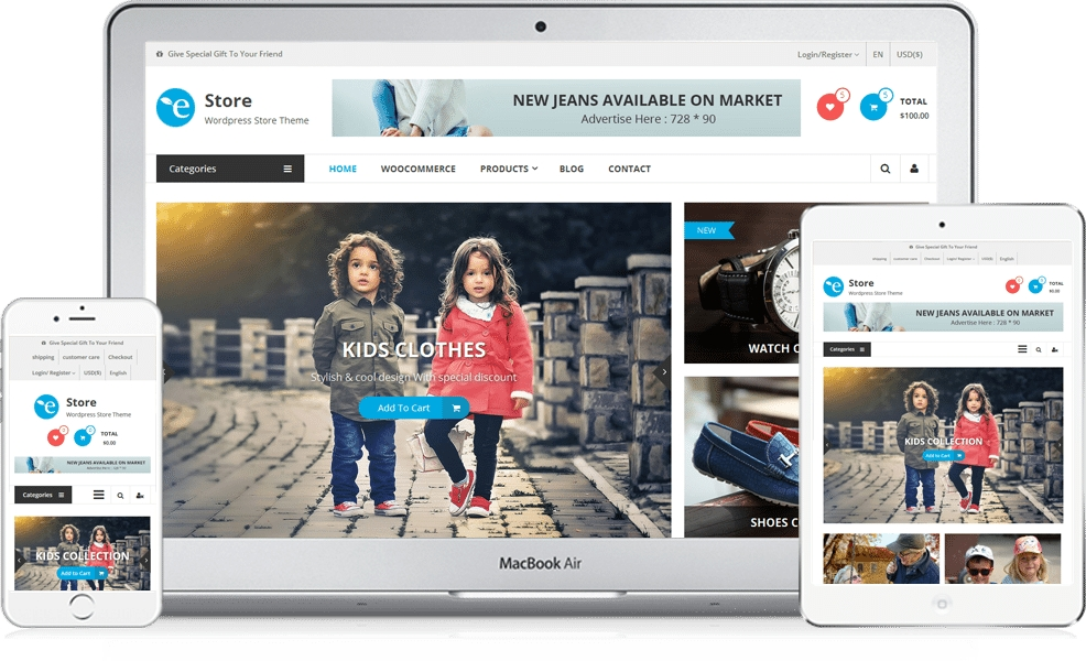 EStore Free WooCommerce WordPress Theme