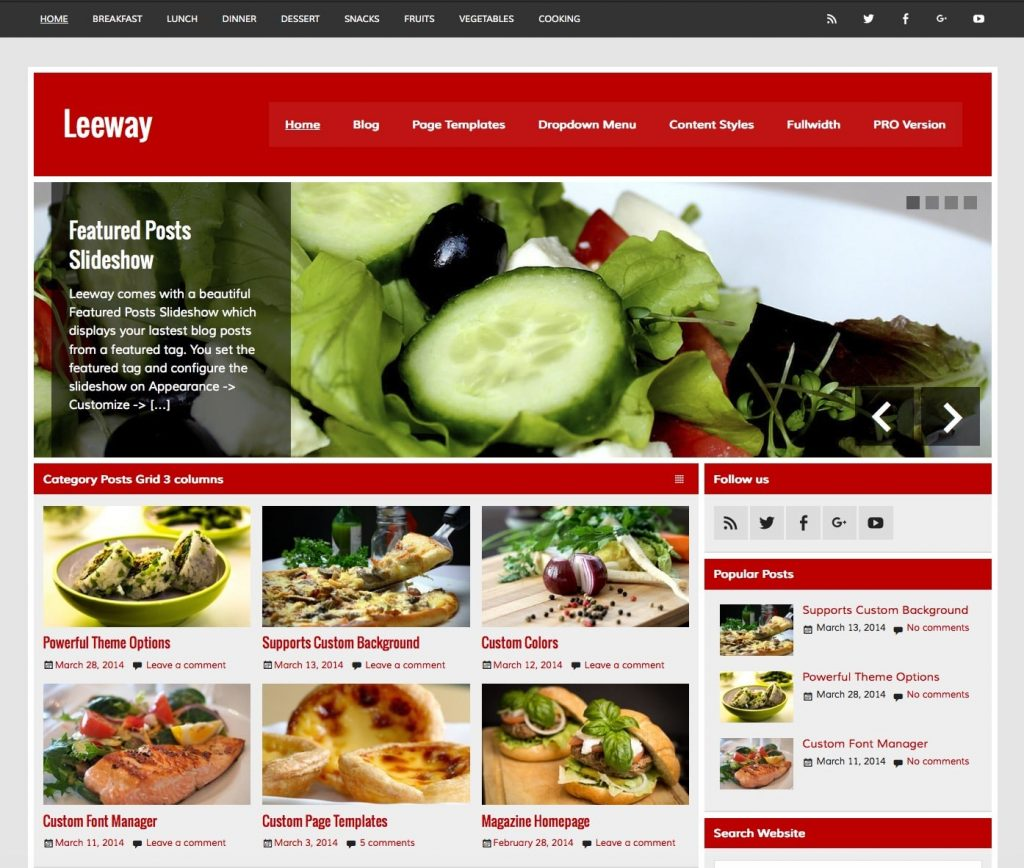 10 best free responsive restaurant wordpress theme 2018