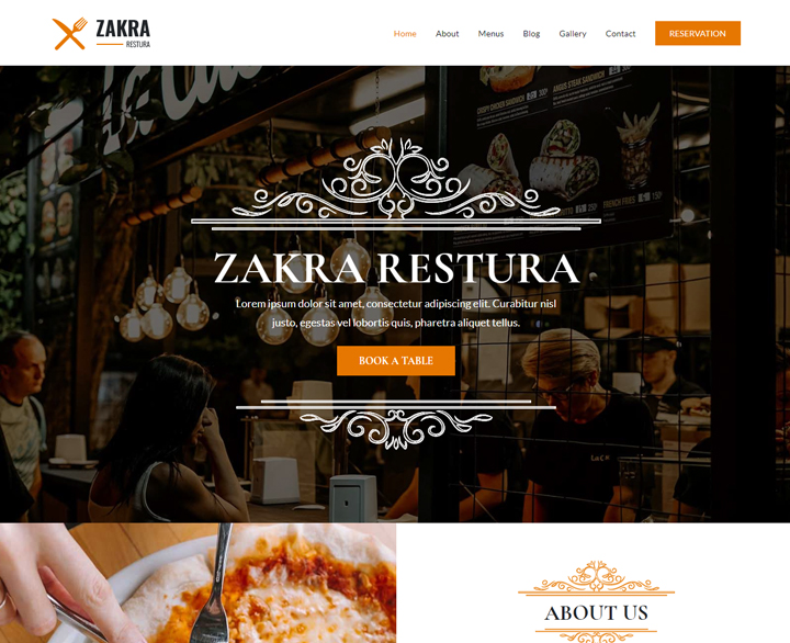 10+ Best Free Responsive Restaurant WordPress Theme 2019