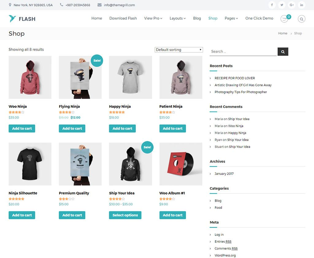 flash-free-woocommerce-theme