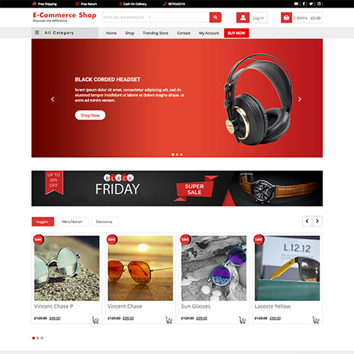 free woocommerce themes - VW E-commerce