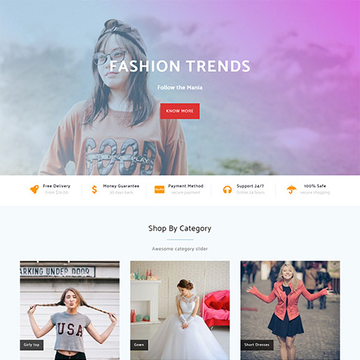 free woocommerce themes - shopline