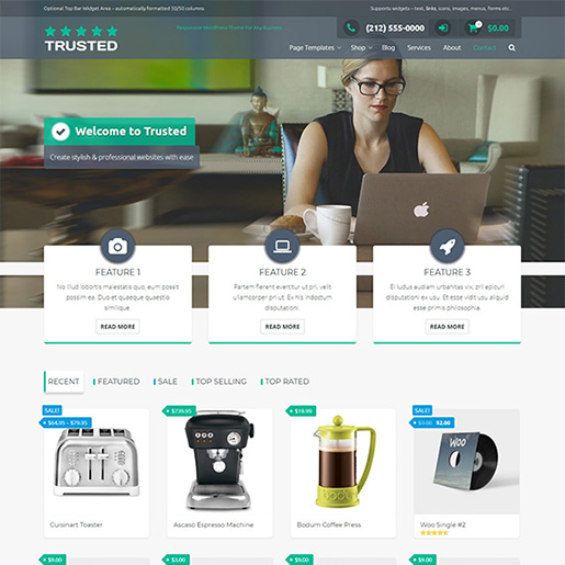 free woocommerce themes - trusted