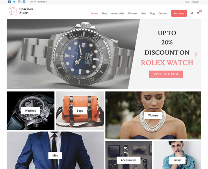sapacious store free woocommerce themes