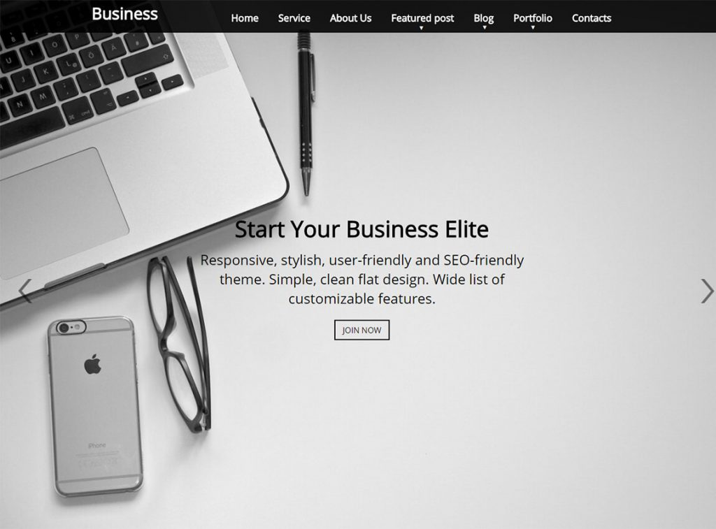 business-elite-free-wp-landing-page-theme
