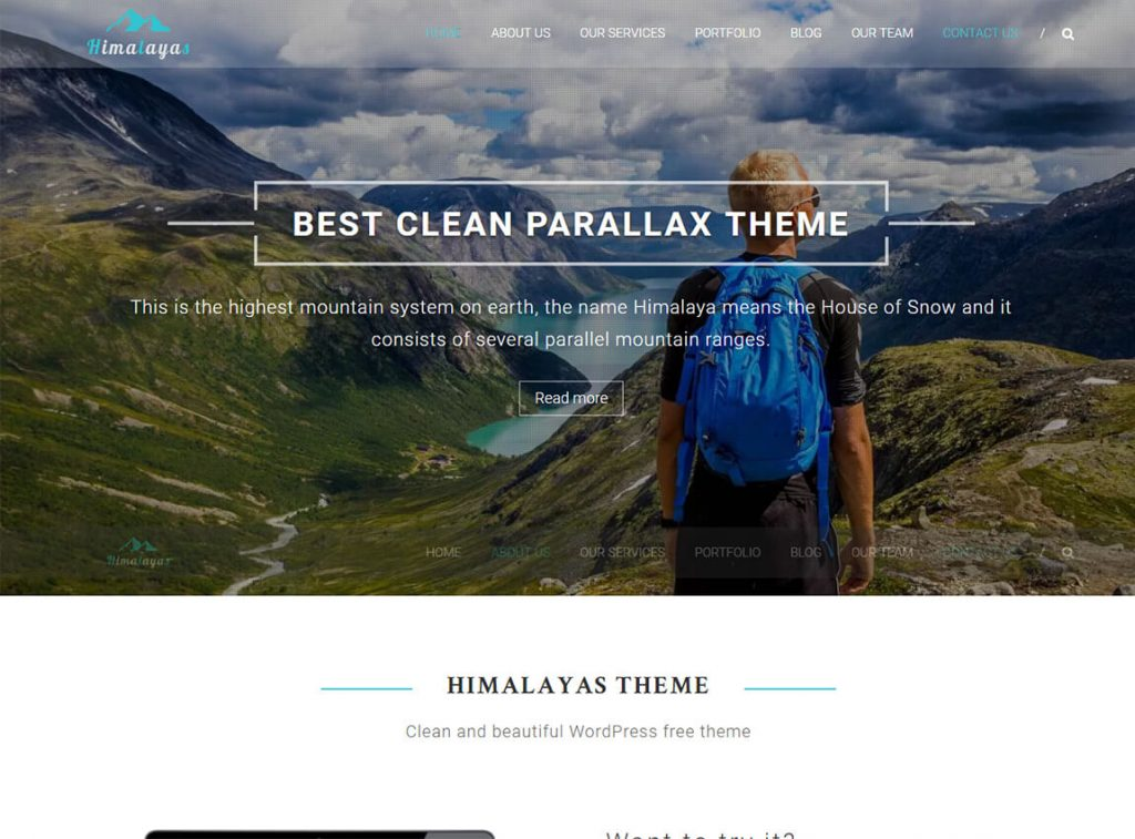 himalayas-free-wordpress-one-page-theme