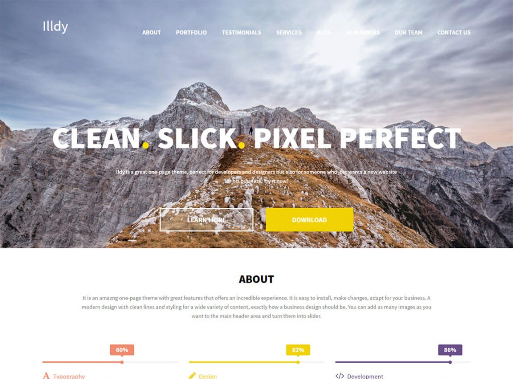 illdy-free-wordpress-landing-page-theme