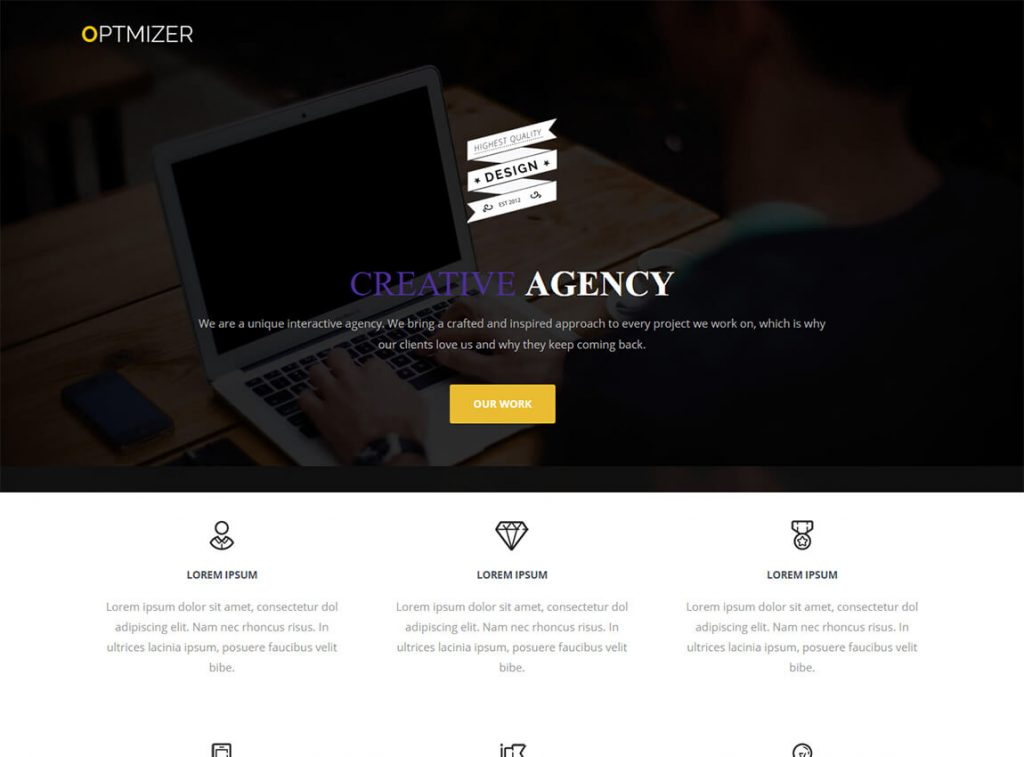 optimizer-free-one-page-theme-wordpress