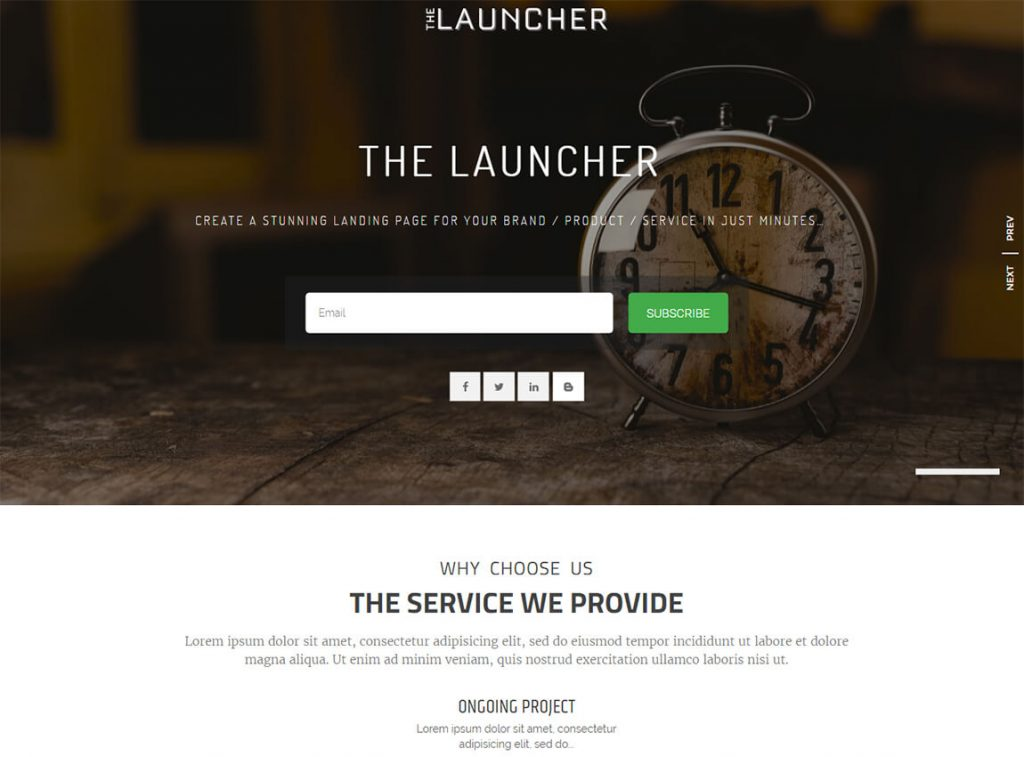 the-launcher-free-landing-page-theme