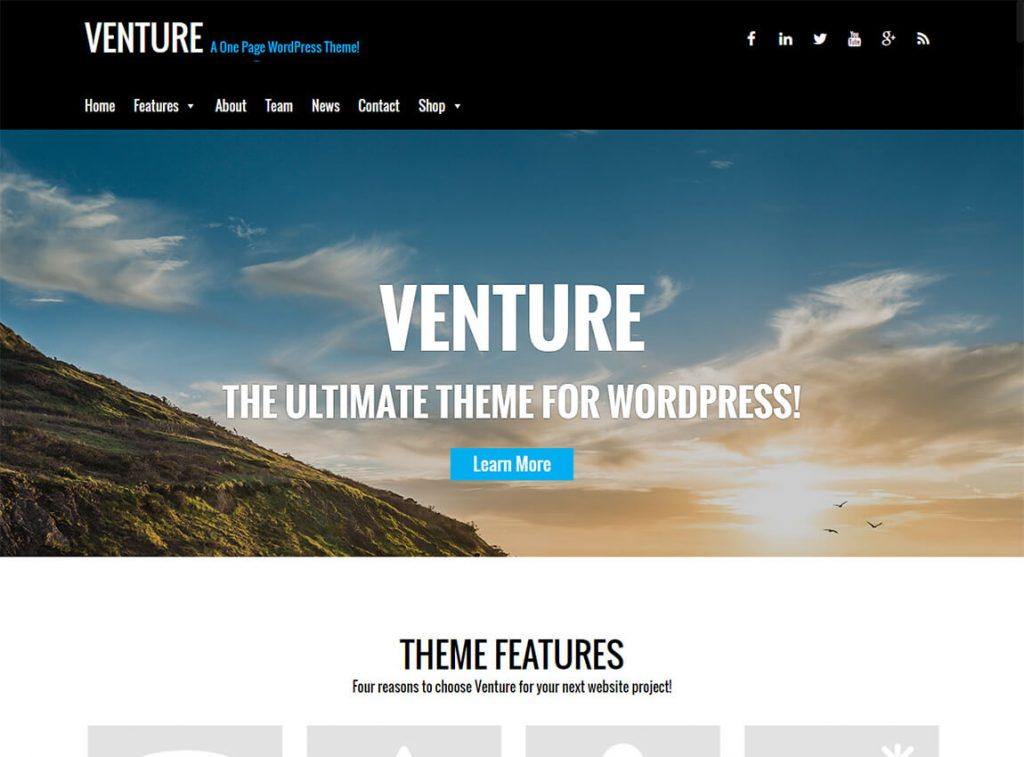 venture-free-landing-page-theme
