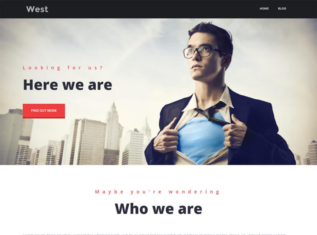west-free-landing-page-wordpress-theme