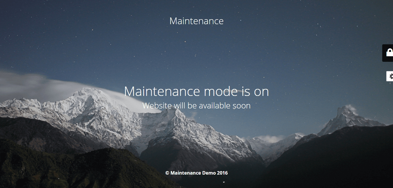 maintenance-demo