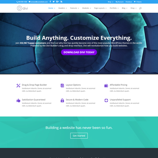 DIVI WordPress Theme Elegant Themes