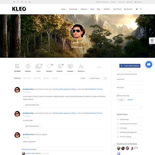 KLEO-buddypress-wordpress-theme