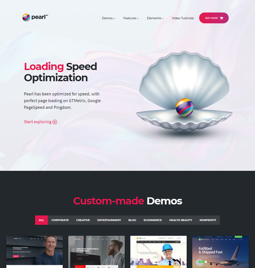 Pearl Premium Business WordPress Theme