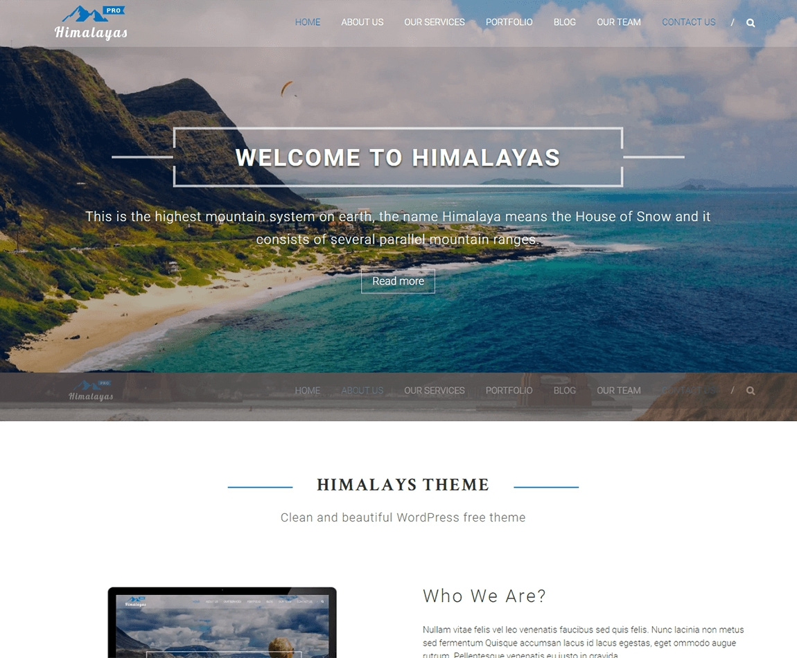 himalayas-pro-best-wordpress-one-page-theme
