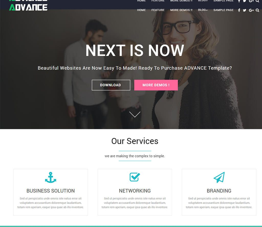 Advance-wordpress-business-theme