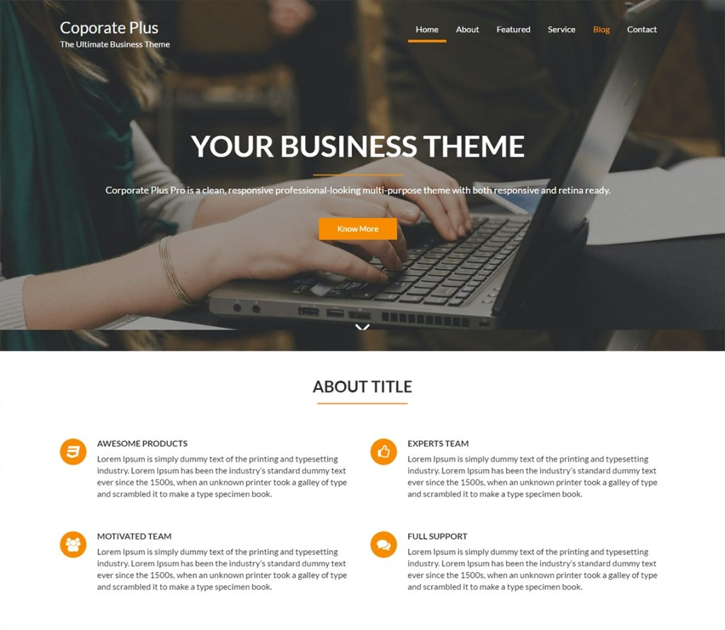 Coporate Plus - free-wordpress-business-theme