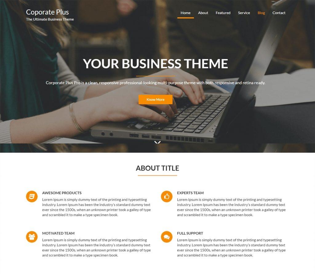 Coporate Plus - free-wordpress-business-theme