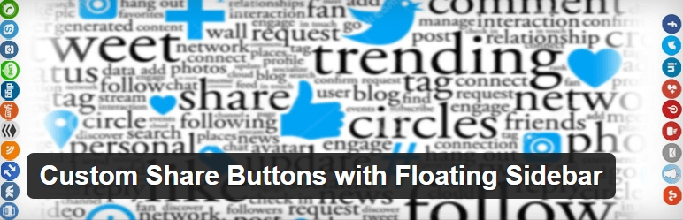 Custom Share Buttons with Floating Sidebar WordPress Plugin