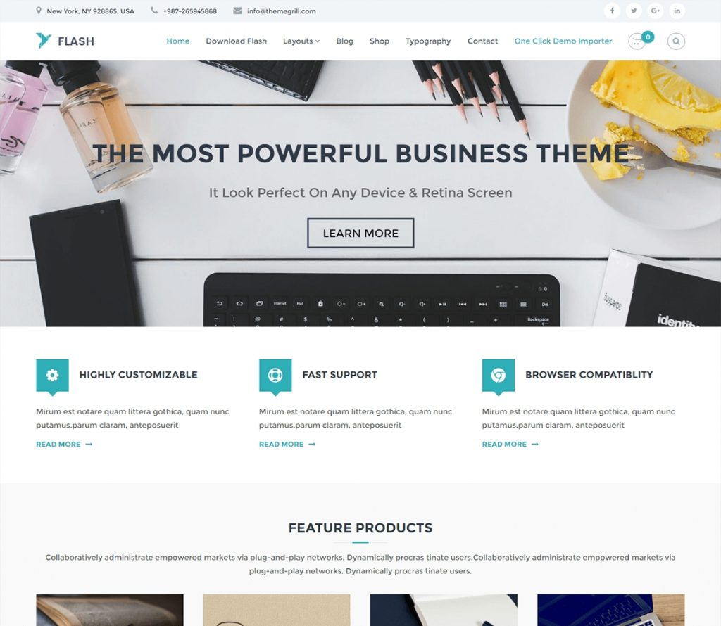 20+ Best FREE WordPress Themes for Business 2019